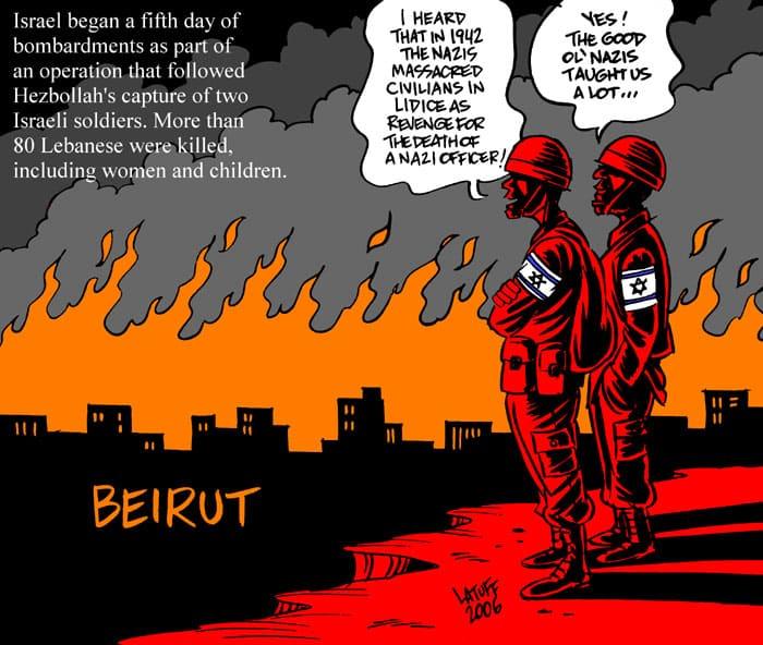 Carlos Latuff, Olmert: Mad for a Total War
