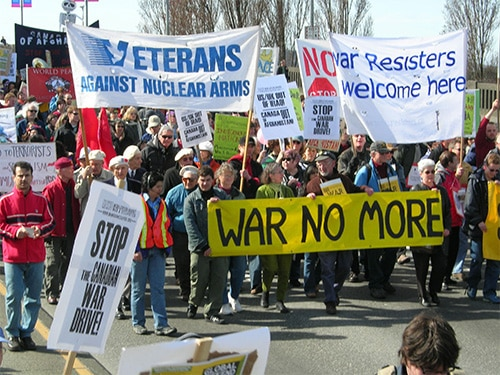 Thousands in Vancouver Take Part in March 18 Anti-war Protest