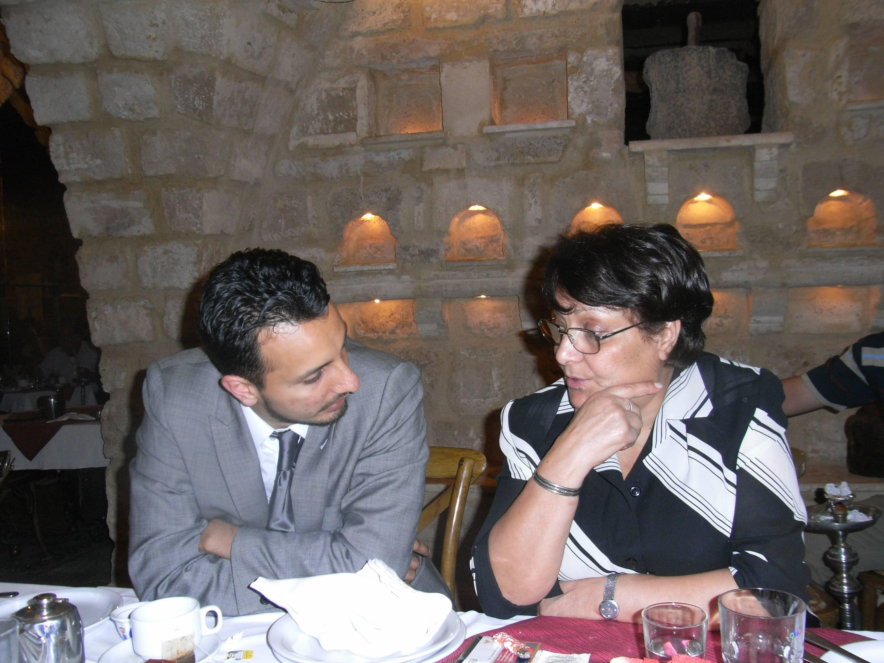 Sukant Chandan and Leila Khaled