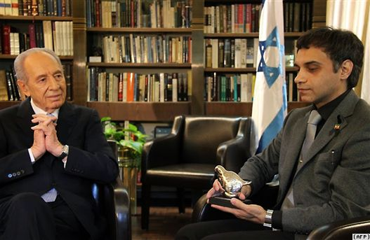 Caspian Makan with Shimon Peres, 22 March 2010