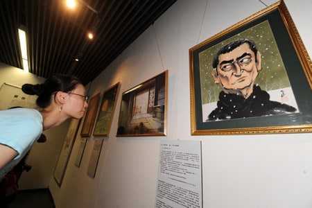 Japanese cartoonists hold antiwar exhibition in China