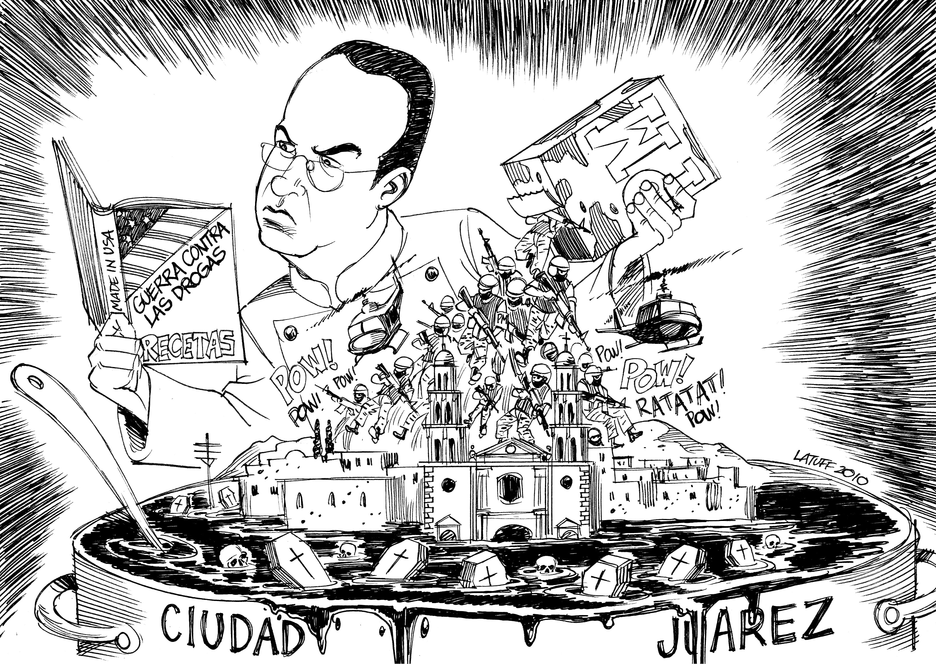 Mexico: Felipe Calderón's War on Drugs by Carlos Latuff