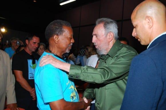 Fidel salutes Lucius Walker, 26 July 2010