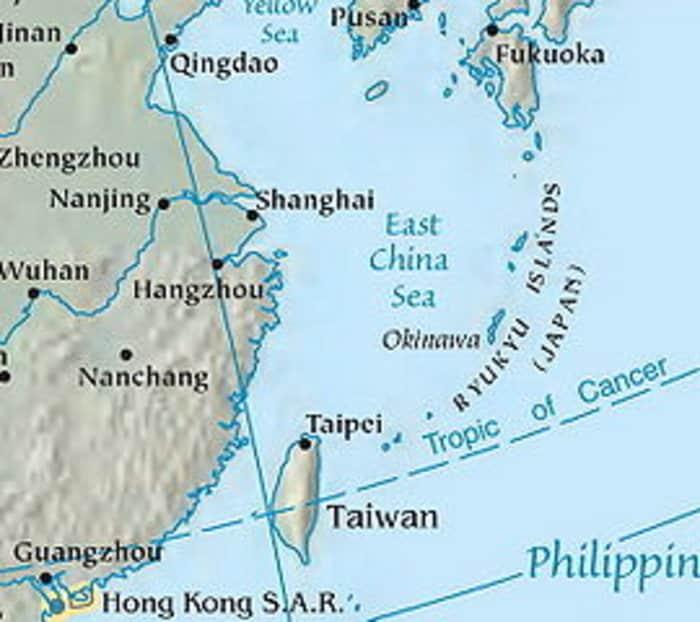 Okinawa in the East China Sea
