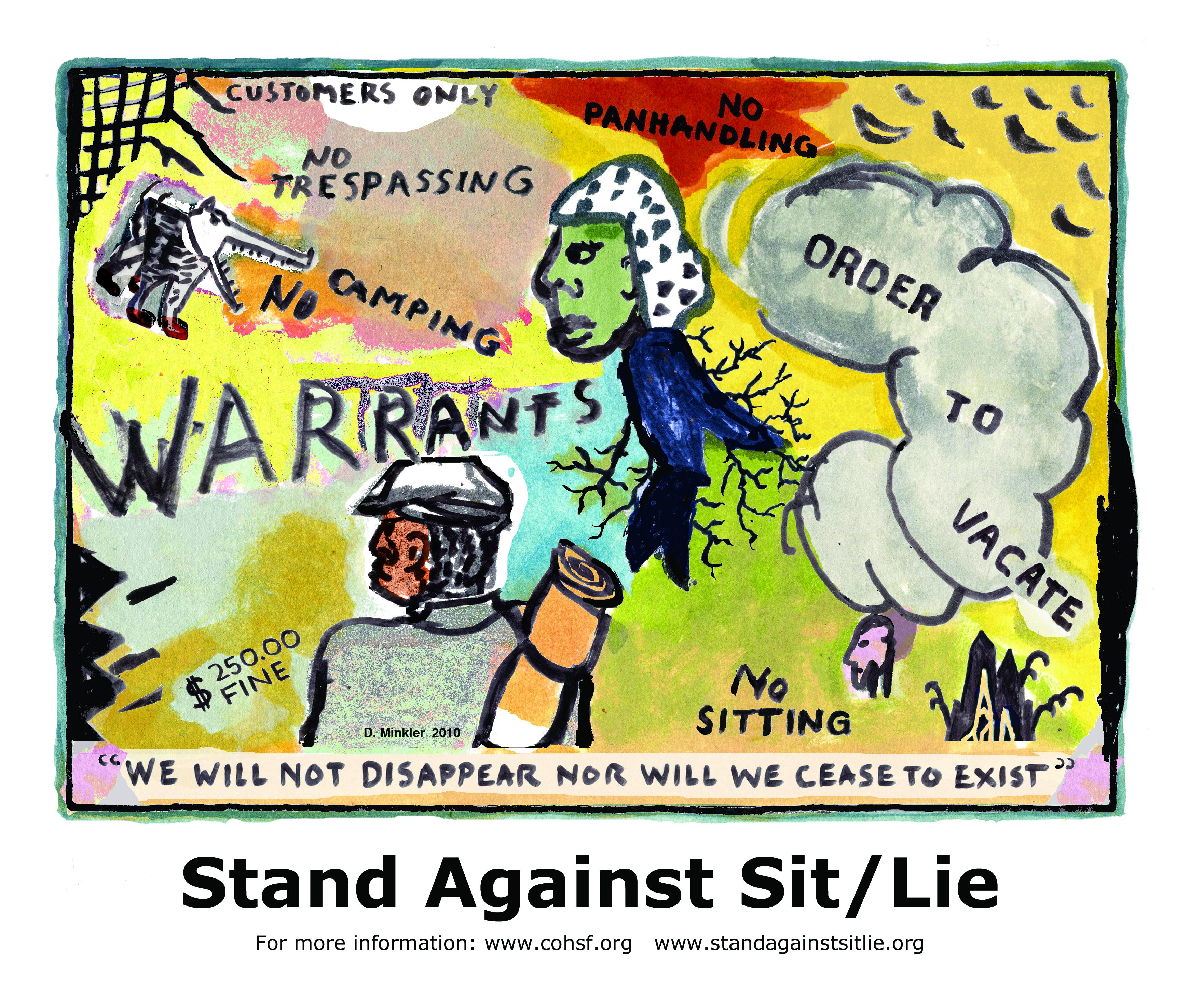 Stand against Sit/Lie