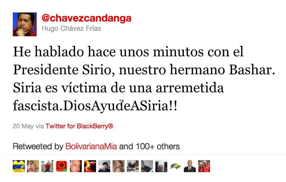 Hugo Chávez Frías, 20.05.11