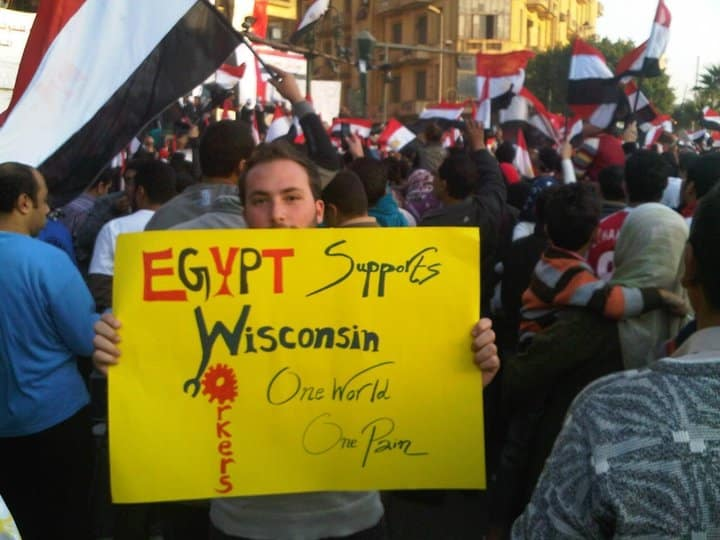 Egypt Supports Wisconsin Workers