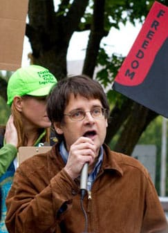At the rally for Occupy Eugene, 15 October 2011