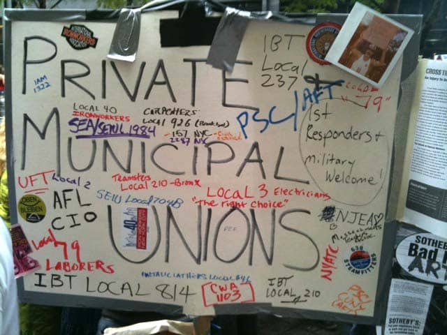 Huge Union Presence at OWS
