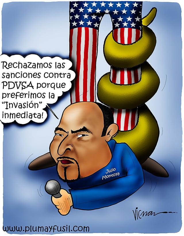 Pitiyanqui Venezuelan Opposition, Too, Condemns US Sanctions against PDVSA