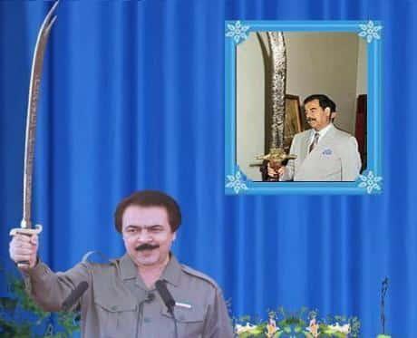 Massoud Rajavi and Saddam Hussein