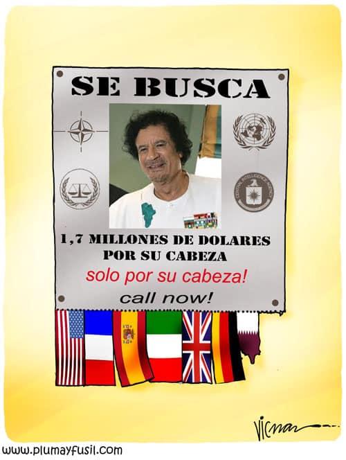Libyan Rebels Put a Bounty on Gaddafi's Head