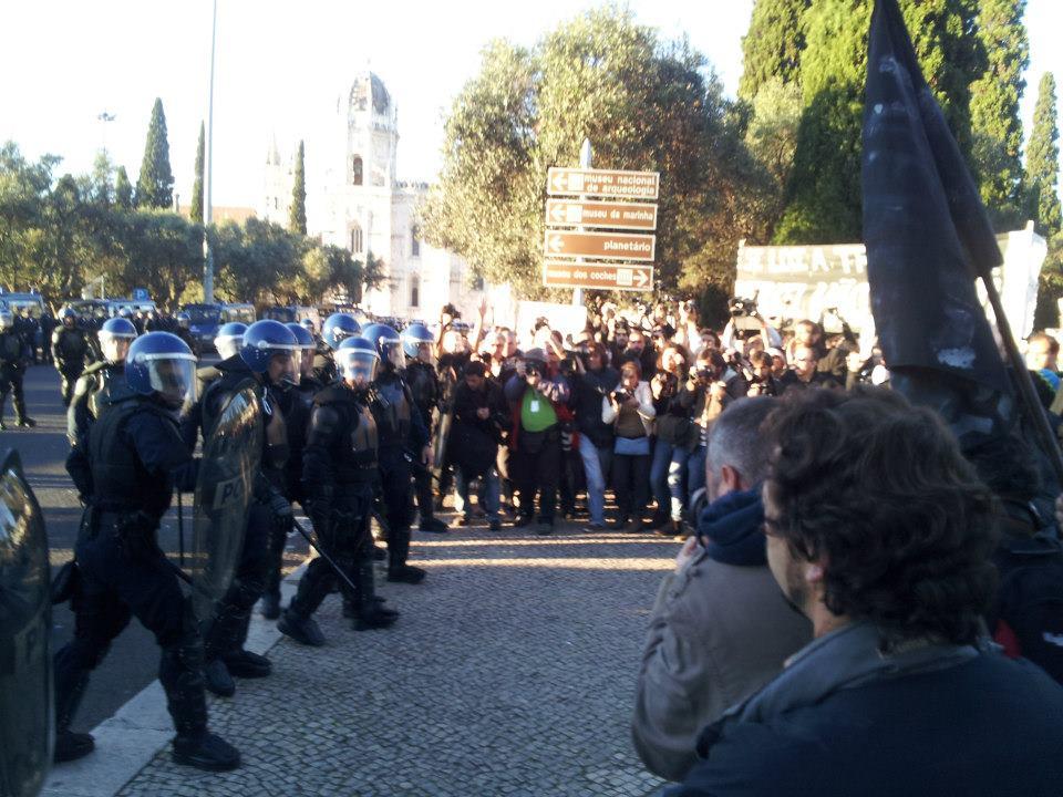 Demonstration Against Merkel in Lisbon