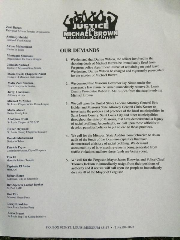 Justice for Michael Brown Leadership Coalition