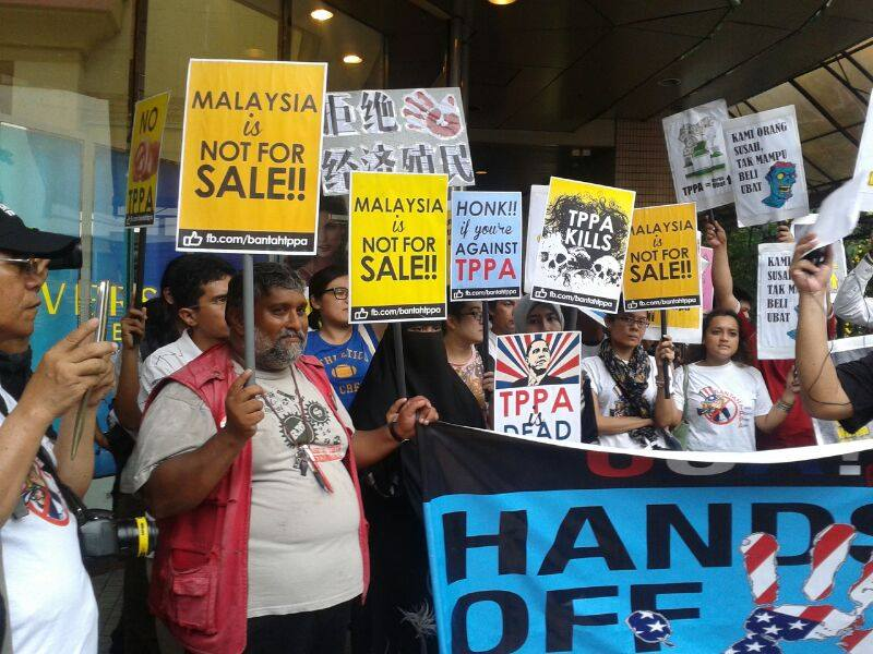 Anti-TPPA Protest at KL SOGO, 26.04.14