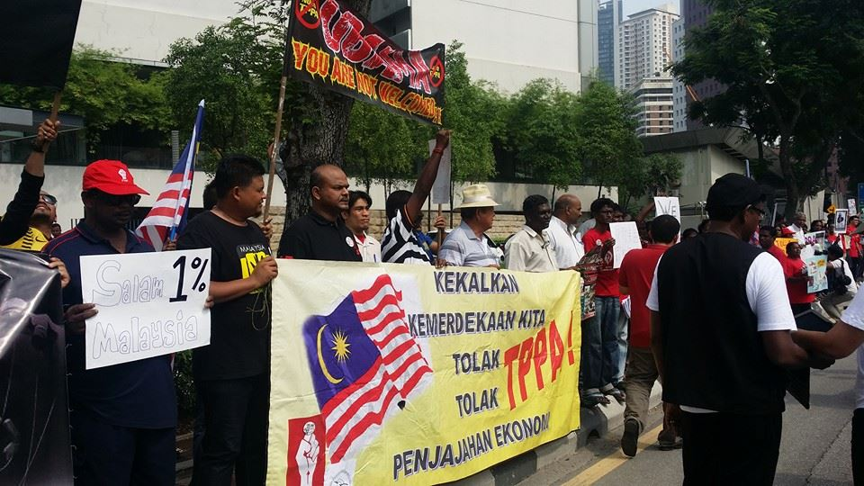 Protest #Nobama & #BantahTPPA, US Embassy, KL, 26.04.14