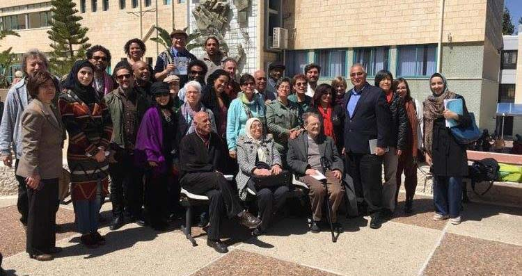 US Prisoner, Labor and Academic Delegation with colleagues from An-Najah National University, Nablus, Palestine, March 31, 2016