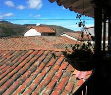 View from the courtyard of the Fundación Mucusutuy