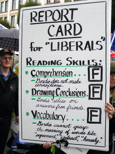 Report Card for BC Liberals