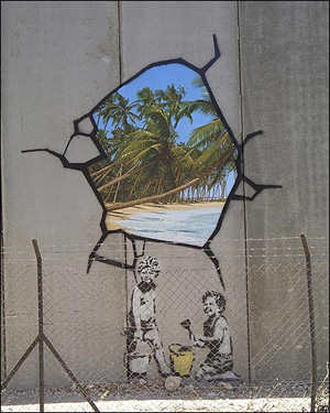 Banksy on the Apartheid Wall