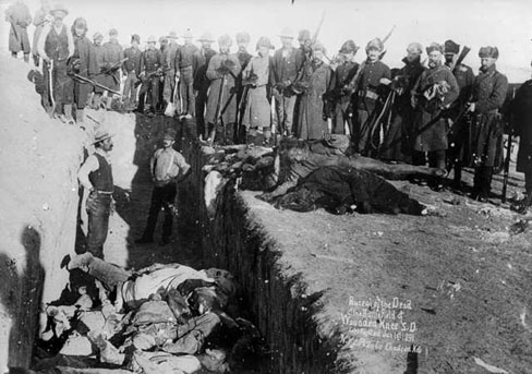 Burial of the Dead at the Battlefield of Wounded Knee