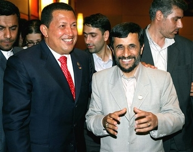Chavez y Ahmadinejad