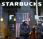 Cops Protect Starbucks