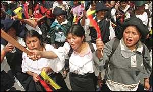 Women Protest in Ecuador