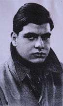 Fritz Teppich 1936 auf dem Weg nach Spanien