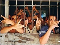 Gang Members in a Central American Jail