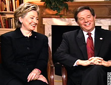 Hillary Clinton and Tom DeLay