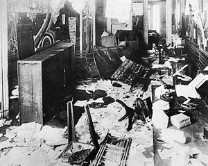I.W.W. Headquarters after a Palmer Raid, 1919