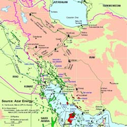 Major Iranian Energy Projects and Pipelines