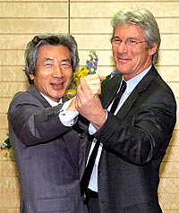 Junichiro Koizumi and Richard Gere