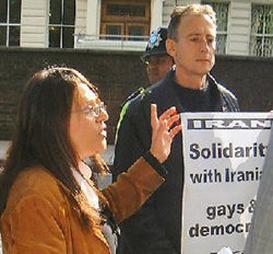 Maryam Kousha and Peter Tatchell