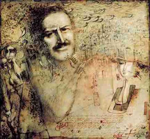 Nazim Hikmet, by Adil Rustamov