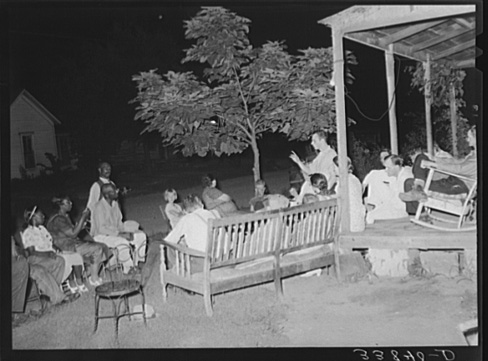 Russell Lee, Negroes and Whites at Workers' Alliance Meeting Listening to Organizer, Muskogee, Oklahoma July 1939