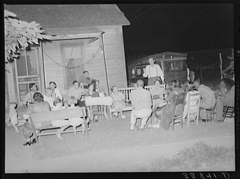 Russell Lee, Negroes and Whites at Workers' Alliance Meeting Listening to Stanley Clark, Old-time Socialist Leader in Oklahoma, Muskogee, Oklahoma July 1939