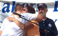 Pat Hugging Kelly