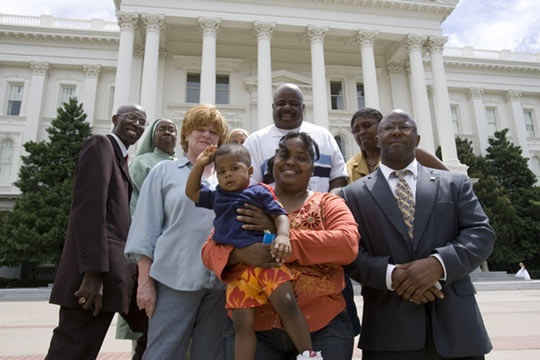 Rhonda Erwin and Her Allies at the Capitol, Sacramento
