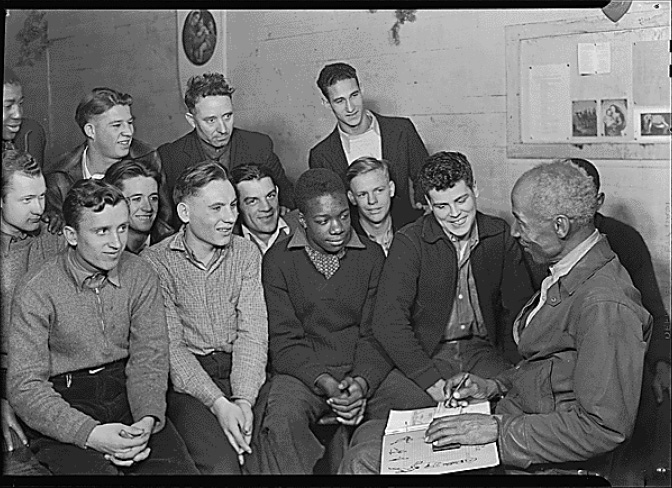 Unemployed Men Attending Meeting of the Workers Alliance Council