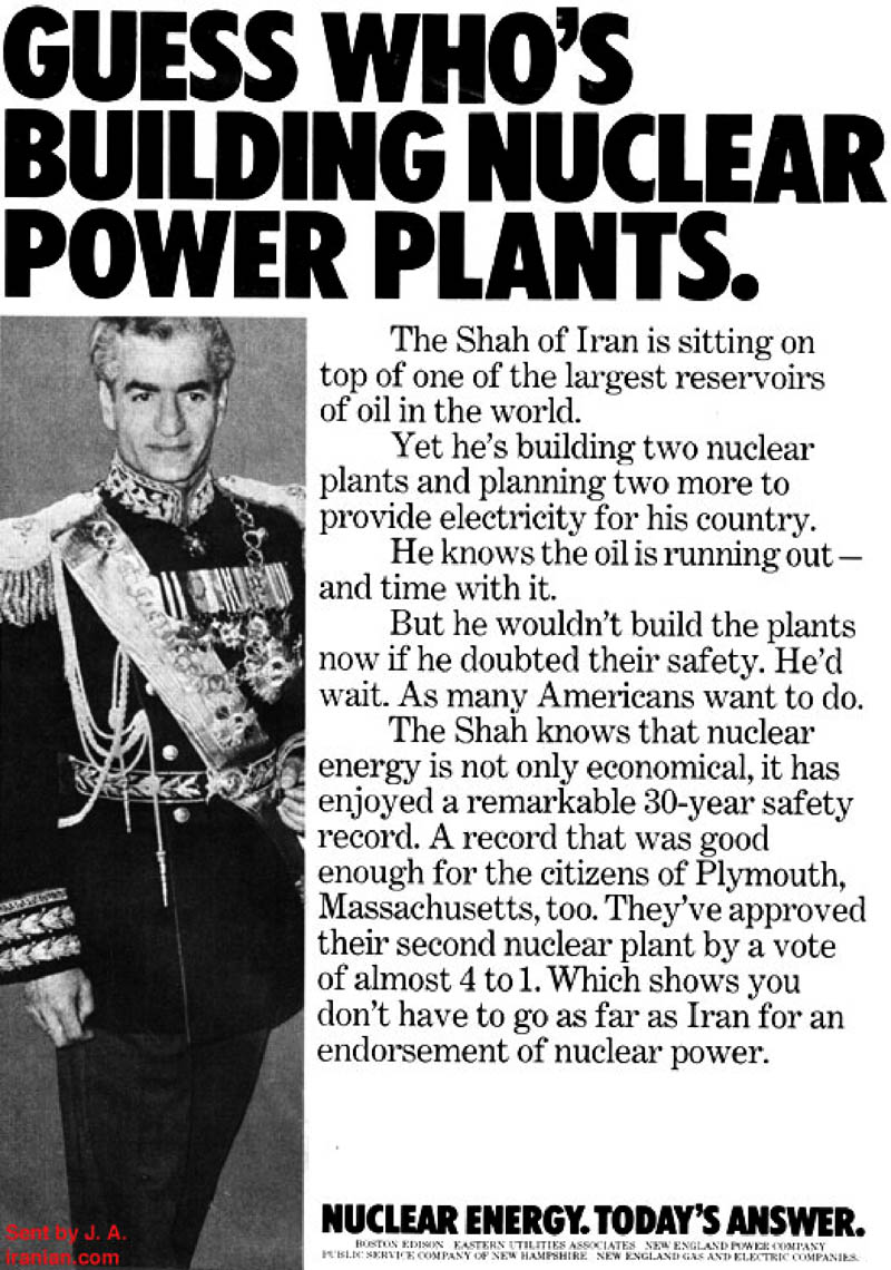 The Shah of Iran: A Nuclear Poster Boy
