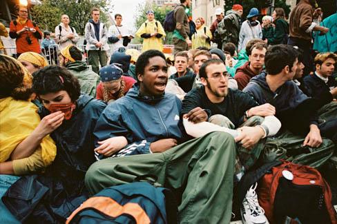 Son of Nun at a Protest