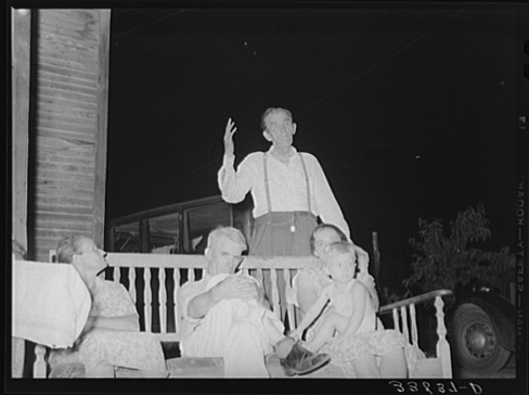 Russell Lee, Stanley Clarke, Old-time Socialist of Oklahoma, Speaking at Workers' Alliance, Muskogee, Oklahoma July 1939
