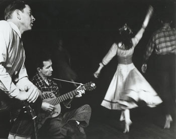 Woody Guthrie and a Dancer