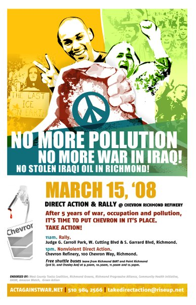 No More Pollution, No More War in Iraq!