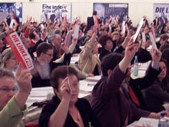 Die Parteitage der Linkspartei.PDS