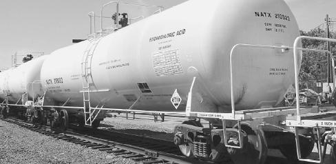 A Hazmat Rail Tank Car