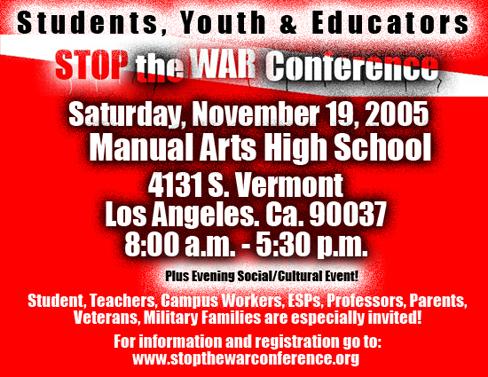 Stop the War, LA, 19 November 2005
