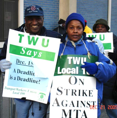 TWU Local 100: On Strike against MTA